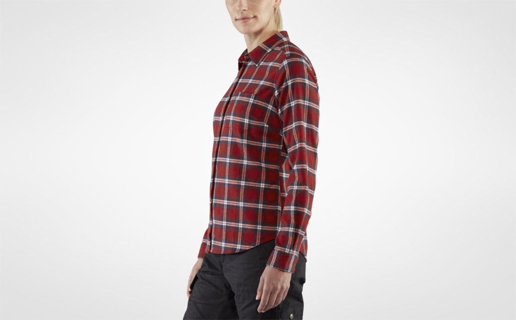 Fjällräven Övik Flannel Shirt W Deep Red-5