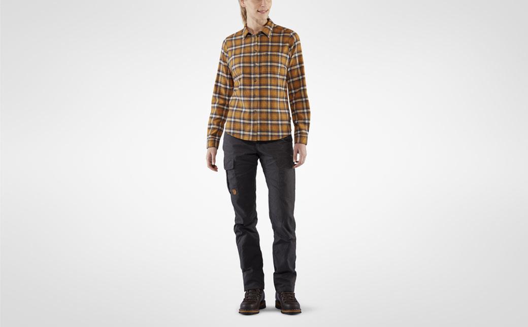 Fjällräven Övik Flannel Shirt W Acorn-3