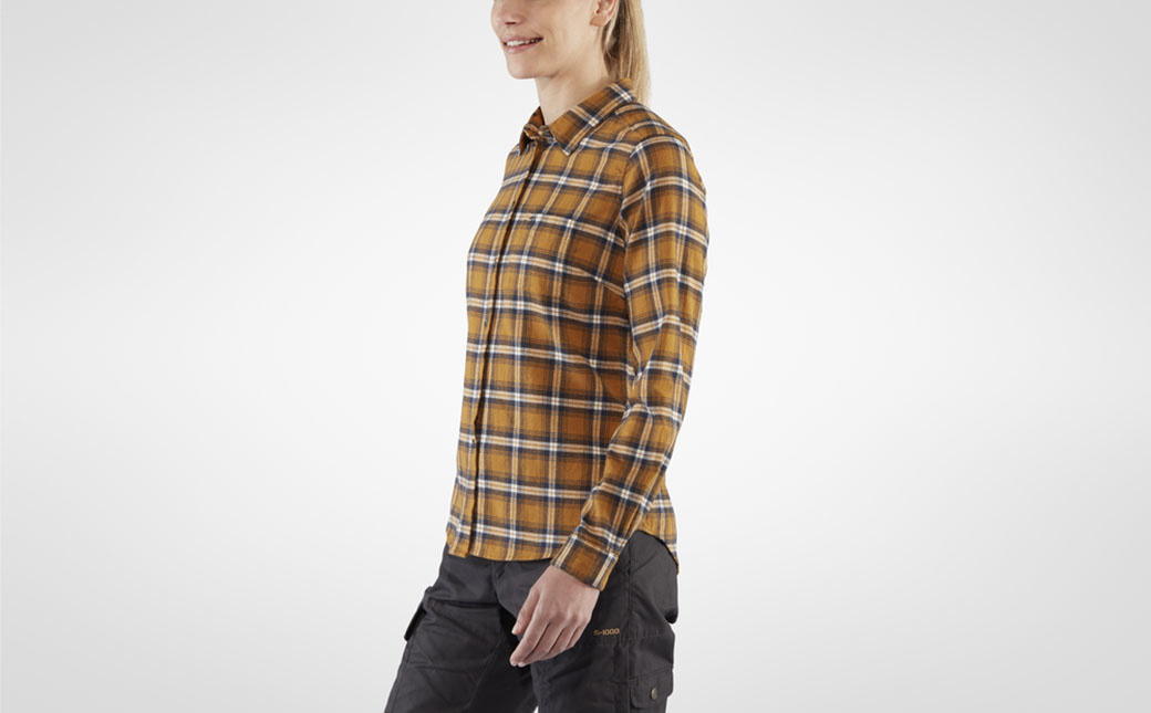 Fjällräven Övik Flannel Shirt W Acorn-5