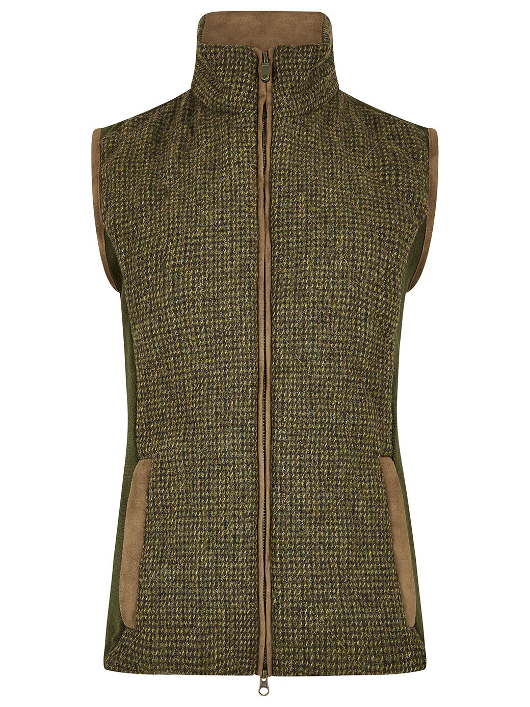 Dubarry Juniper Tweed Bodywarmer - Heath-1