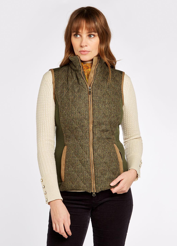 Dubarry Juniper Tweed Bodywarmer - Heath-2