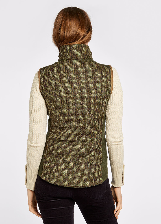 Dubarry Juniper Tweed Bodywarmer - Heath-3