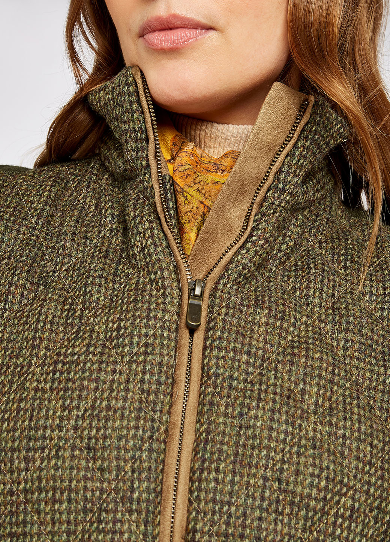 Dubarry Juniper Tweed Bodywarmer - Heath-4