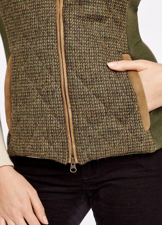 Dubarry Juniper Tweed Bodywarmer - Heath-5