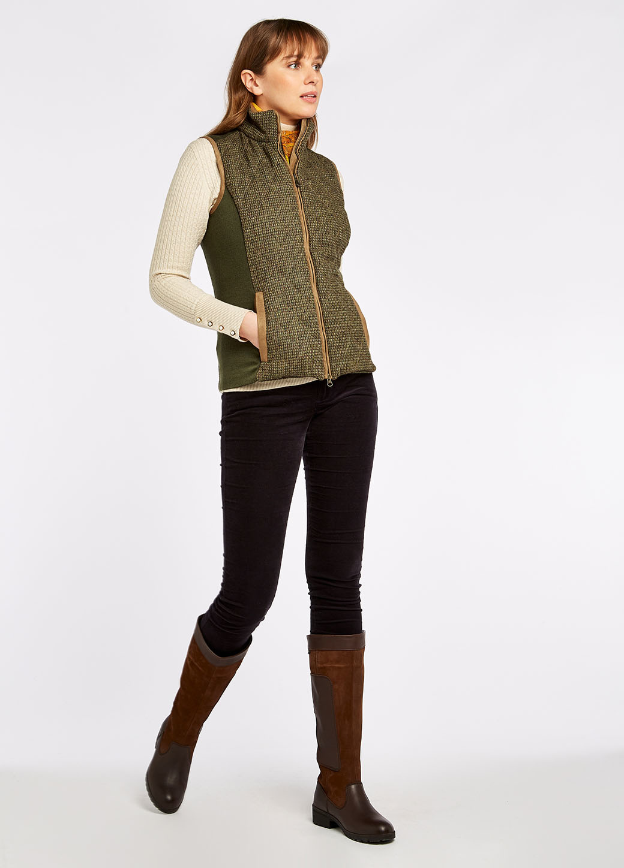 Dubarry Juniper Tweed Bodywarmer - Heath-6