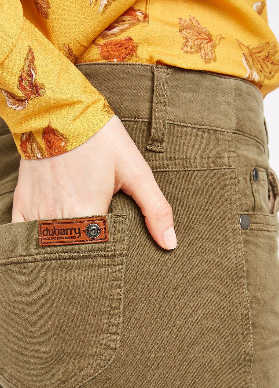 Dubarry Honeysuckle Corduroy stretchbroek - Dusky Green-3