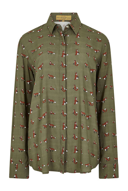 Dubarry Delphine Vos Motief Blouse - Dusky Green