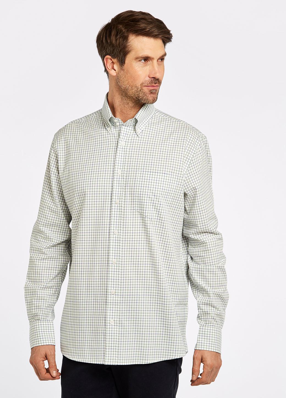 Dubarry Muckross Tattersall Shirt - Dusky Green-2