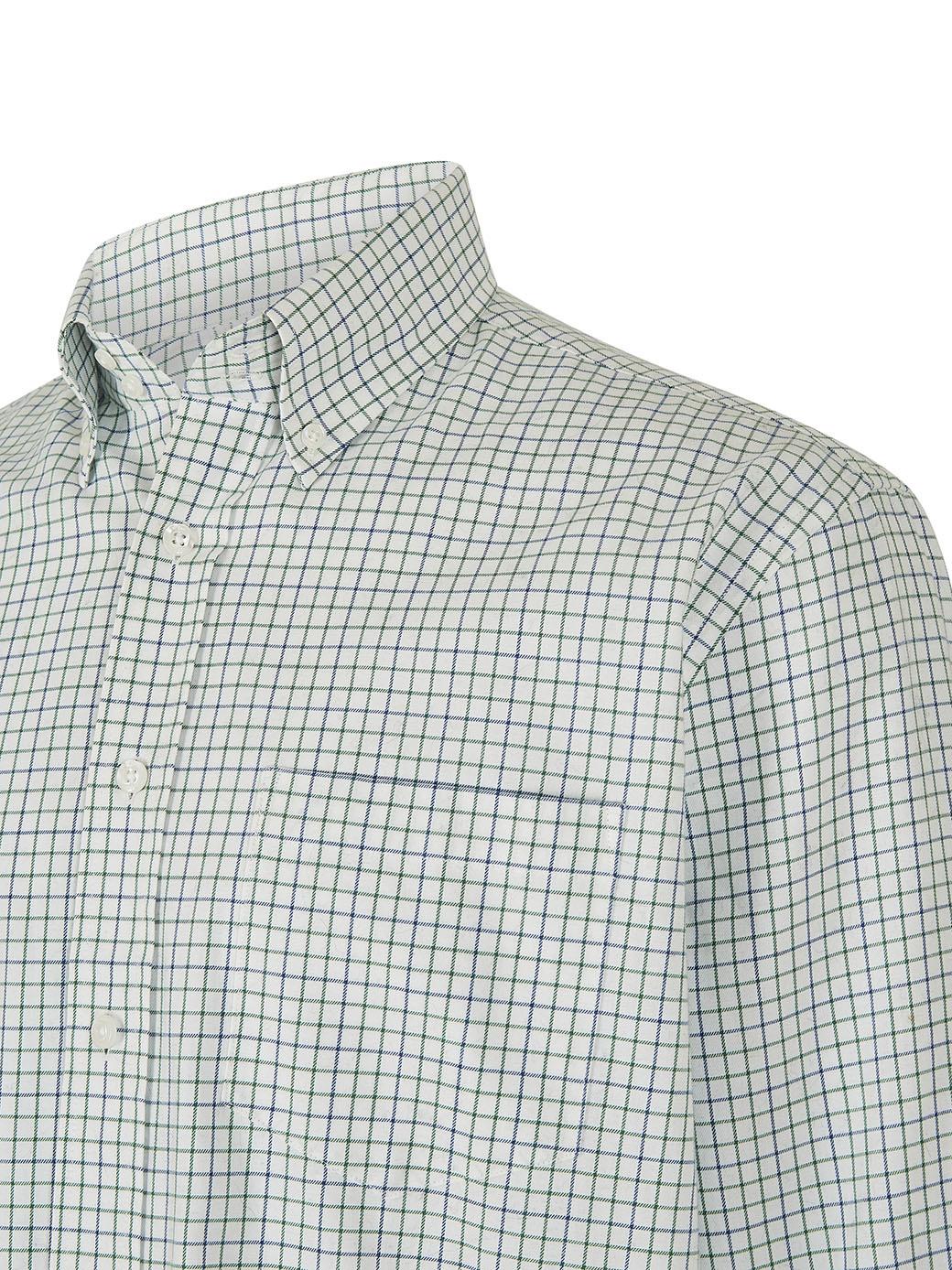Dubarry Muckross Tattersall Shirt - Dusky Green-4