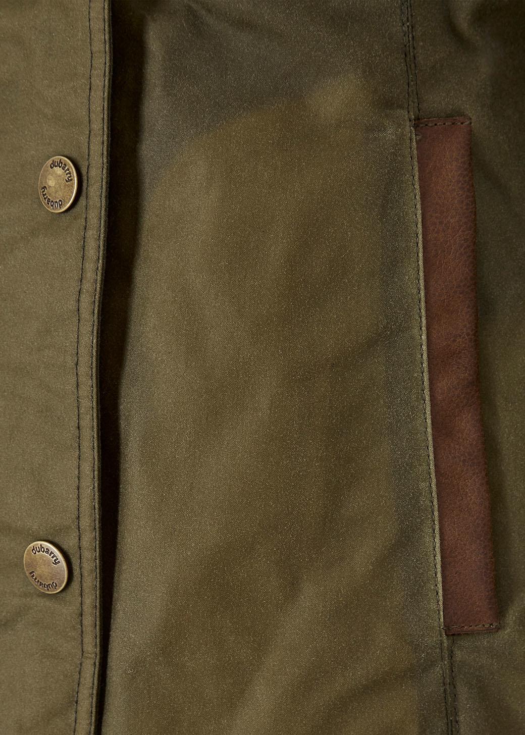 Dubarry Mountrath PrimaLoft® Waxjas - Dusky Green-5