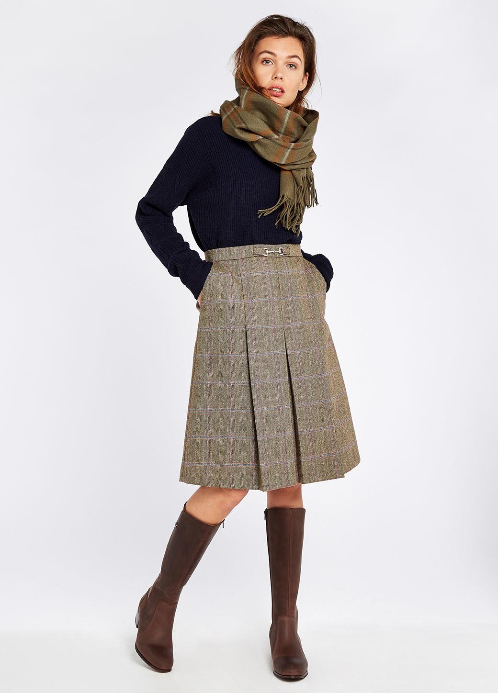 Dubarry Spruce Tweed Rok - Woodrose-2