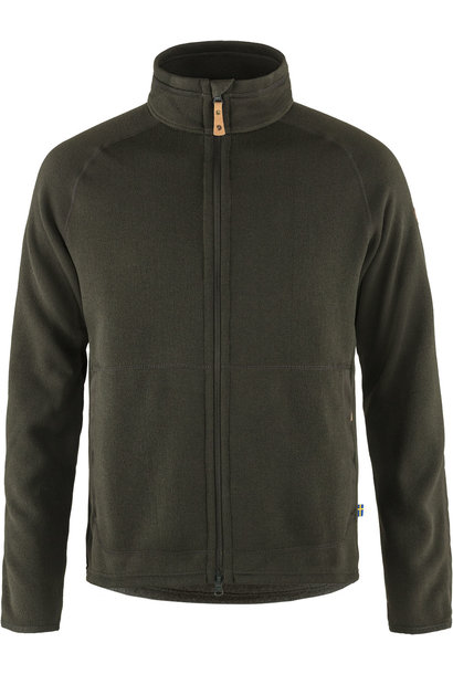 Fjällräven Övik Fleece Zip Sweater M Deep Forest