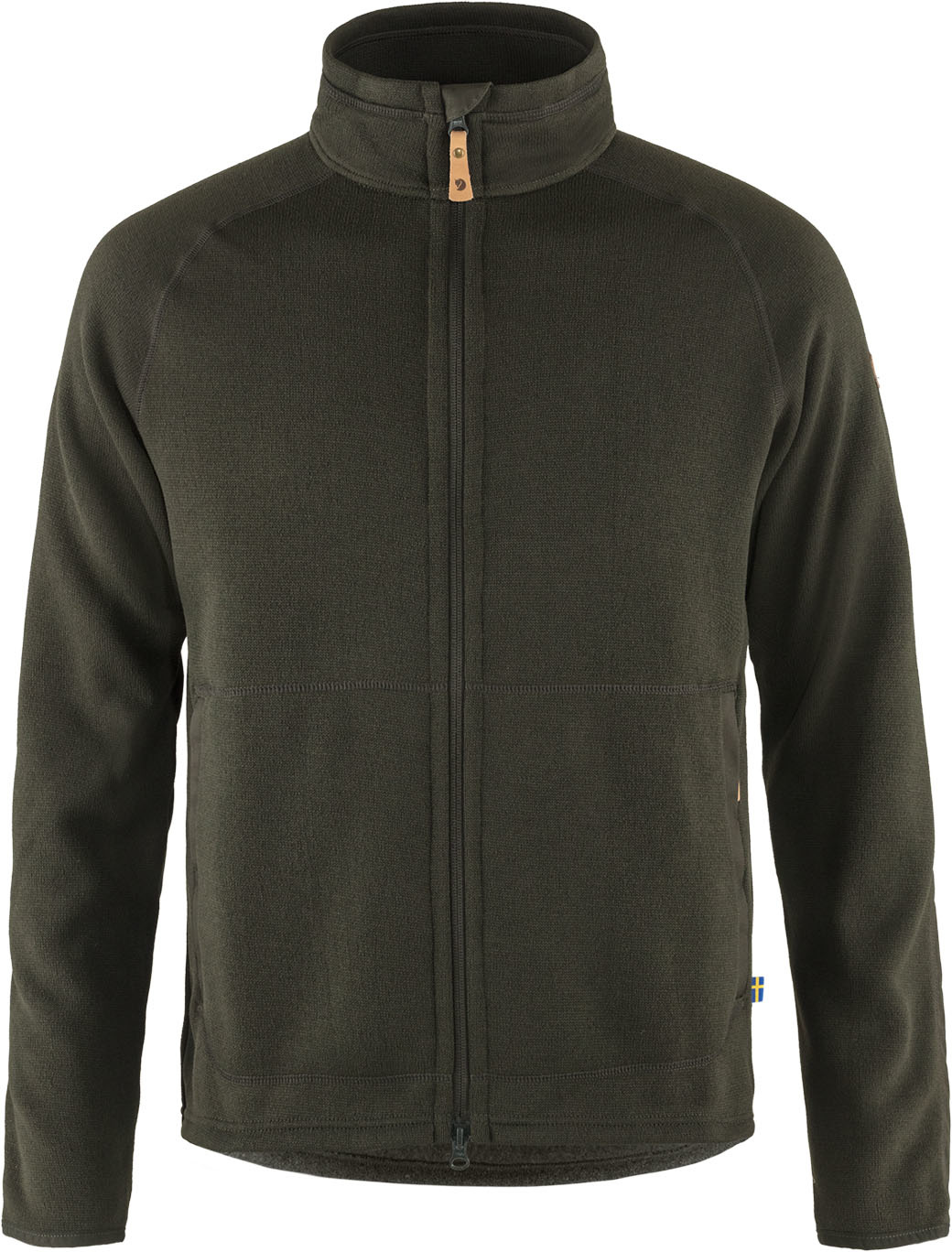 Fjällräven Övik Fleece Zip Sweater M Deep Forest-1