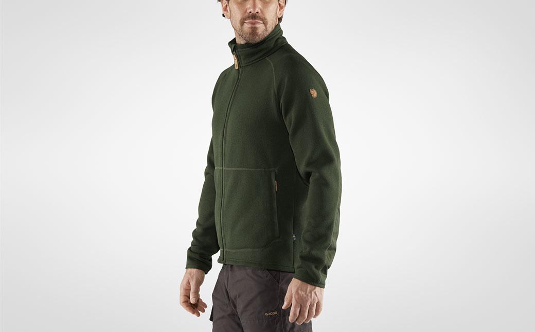 Fjällräven Övik Fleece Zip Sweater M Deep Forest-2