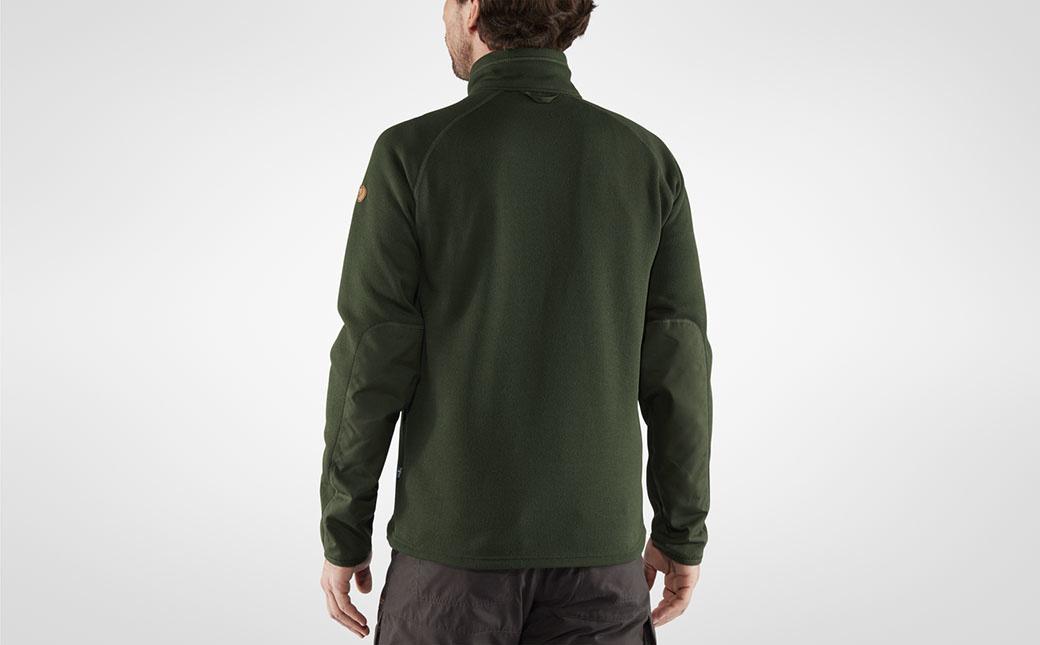 Fjällräven Övik Fleece Zip Sweater M Deep Forest-3