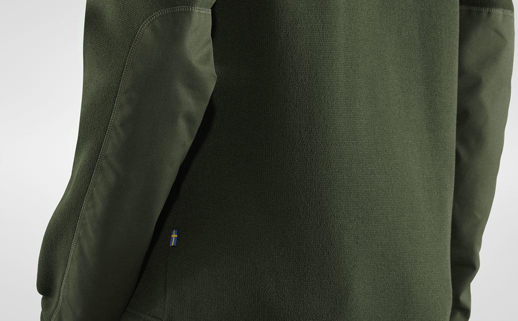 Fjällräven Övik Fleece Zip Sweater M Deep Forest-5