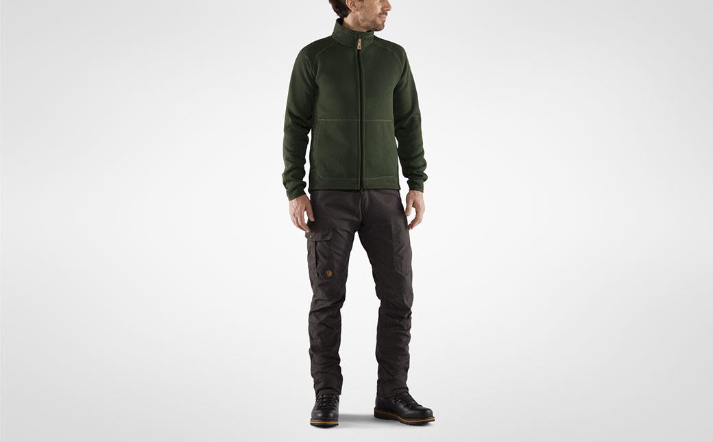 Fjällräven Övik Fleece Zip Sweater M Deep Forest-6