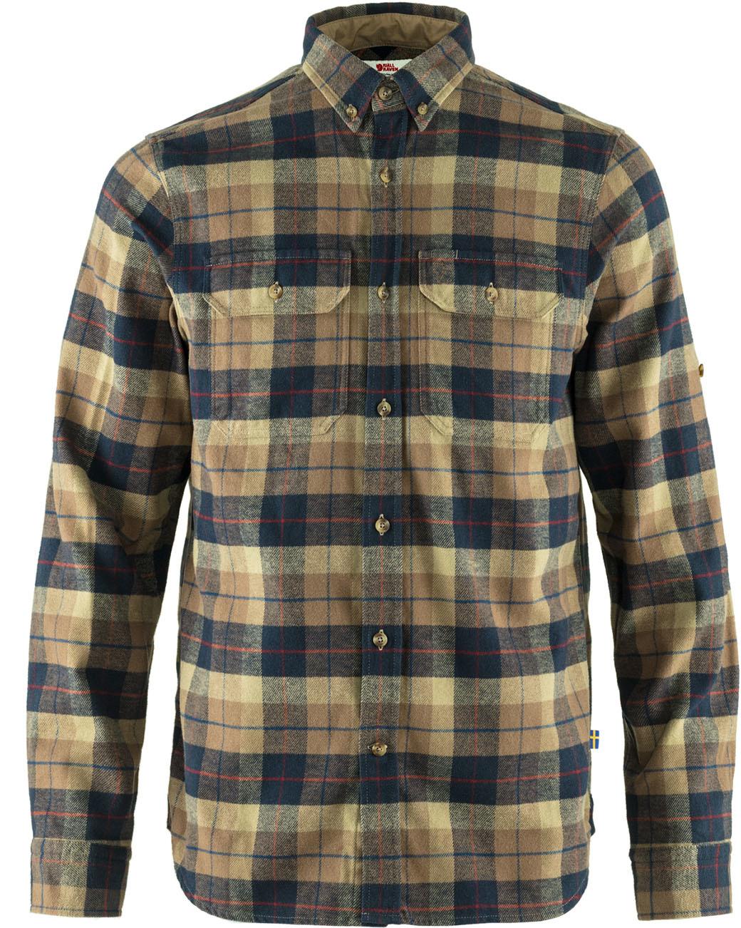 Fjällräven Singi Heavy Flannel Shirt M Dark Sand-1