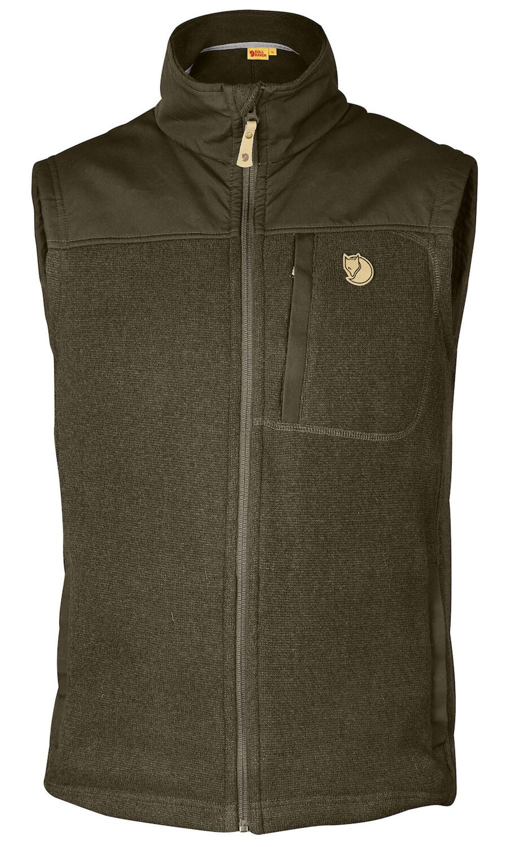 Fjällräven Buck Fleece Vest M Dark Olive-1