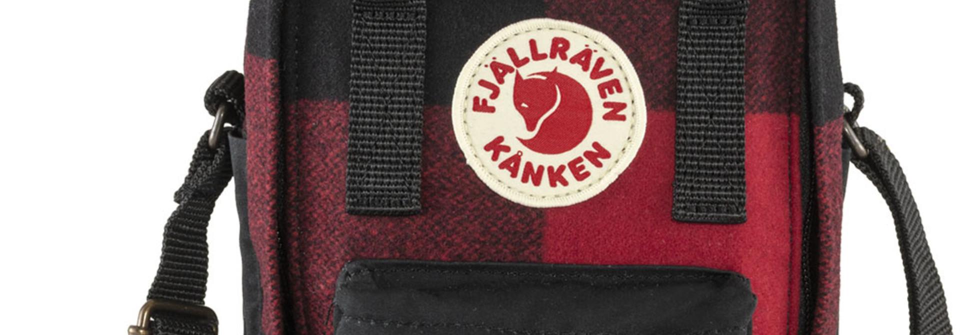 Fjällräven Kånken Re-Wool Sling Red-Black