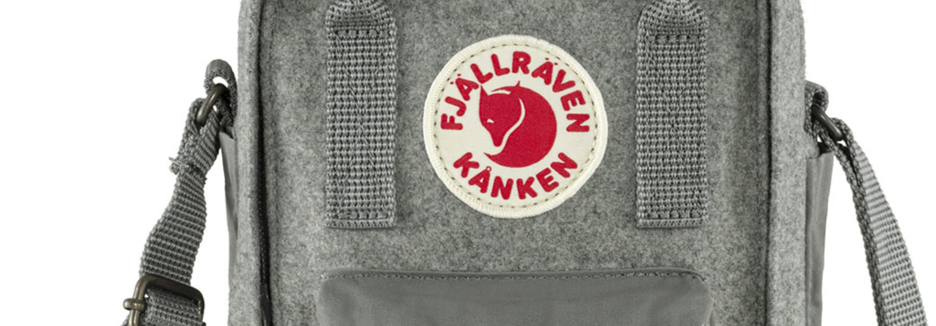 Fjällräven Kånken Re-Wool Sling Granite Grey