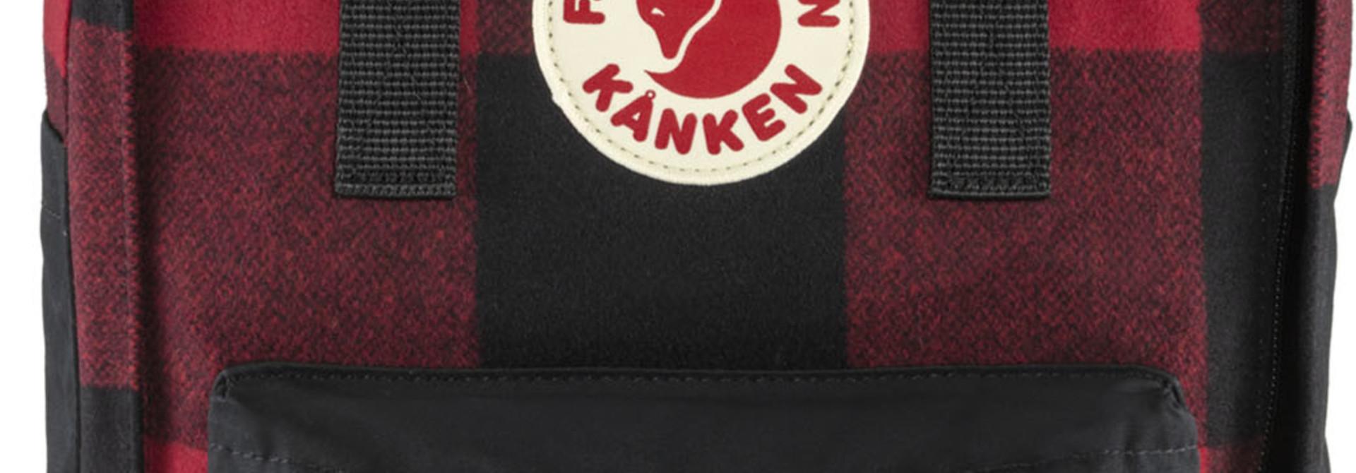 """Fjällräven Kånken Re-Wool Laptop 15"""" Red-Black"""