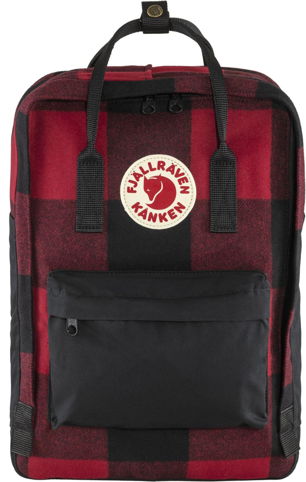 """Fjällräven Kånken Re-Wool Laptop 15"""" Red-Black-1"""