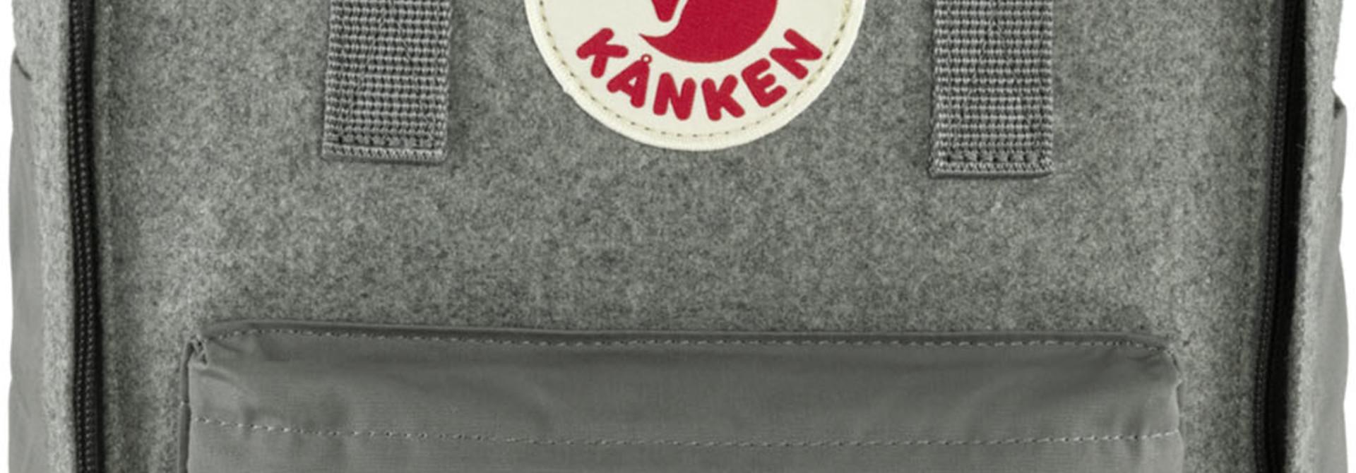 """Fjällräven Kånken Re-Wool Laptop 15"""" Granite Grey"""