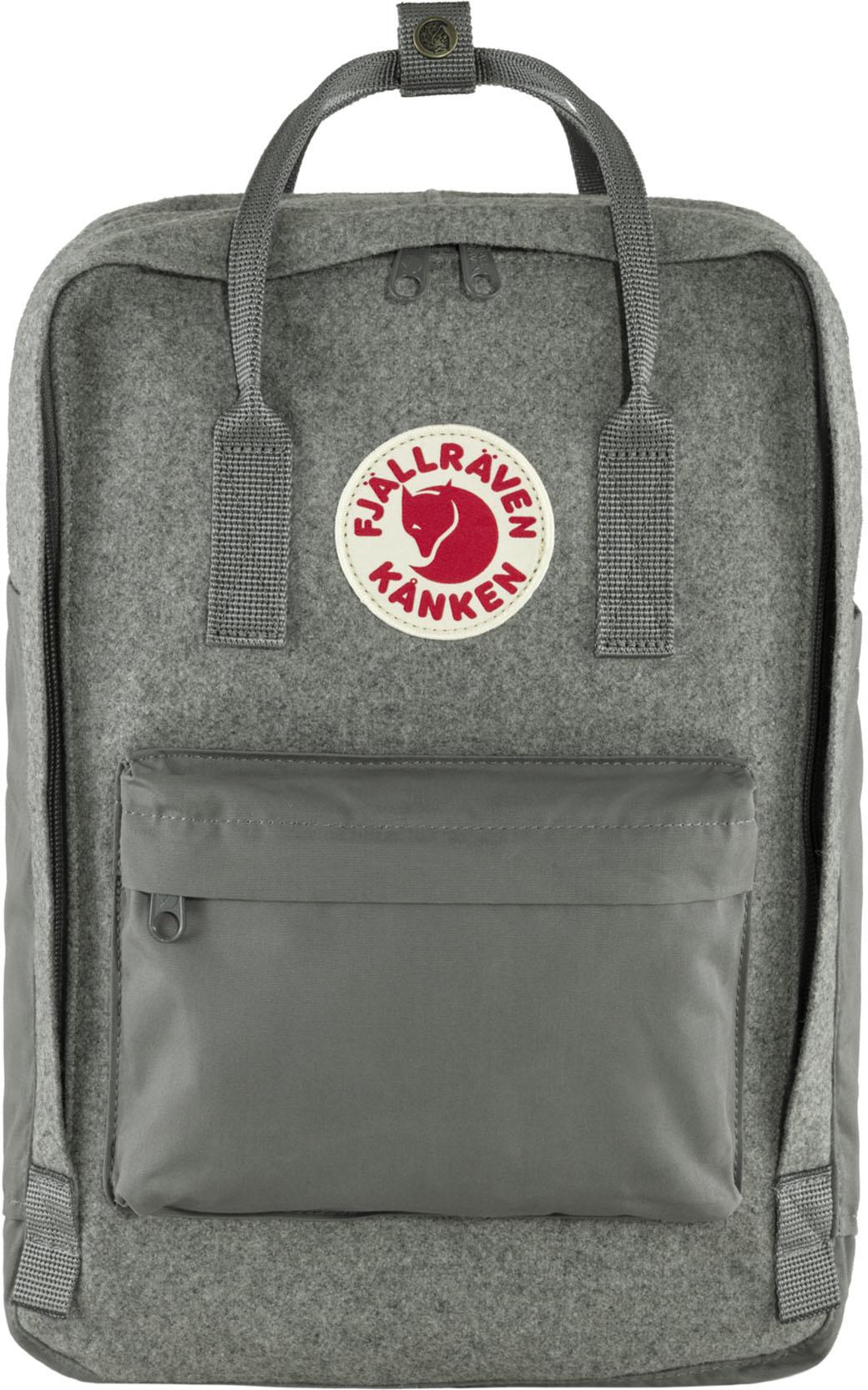 """Fjällräven Kånken Re-Wool Laptop 15"""" Granite Grey-1"""