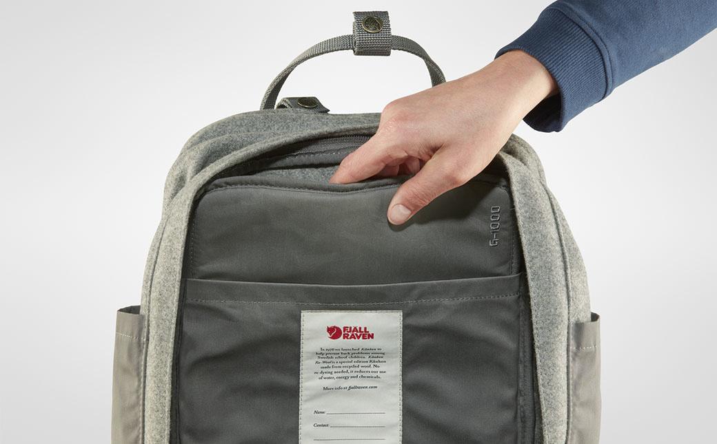 """Fjällräven Kånken Re-Wool Laptop 15"""" Granite Grey-3"""