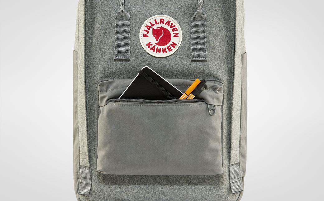 """Fjällräven Kånken Re-Wool Laptop 15"""" Granite Grey-5"""