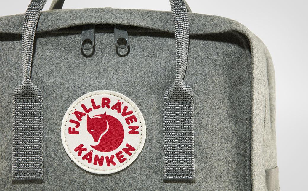 """Fjällräven Kånken Re-Wool Laptop 15"""" Granite Grey-6"""