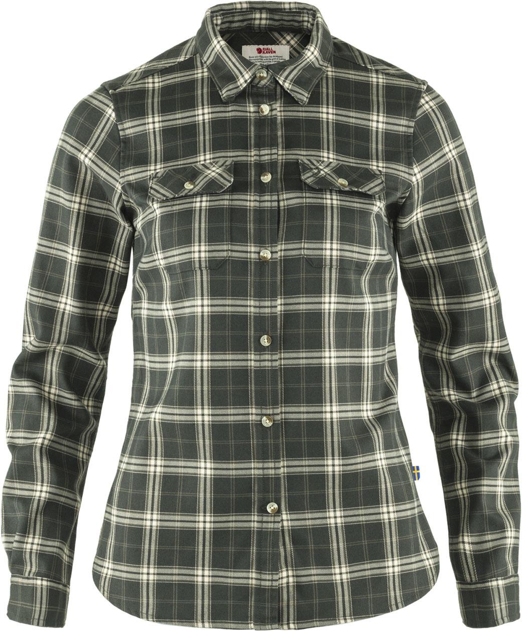 Fjällräven Fjällglim Stretch Shirt LS W  Deep Forest-1