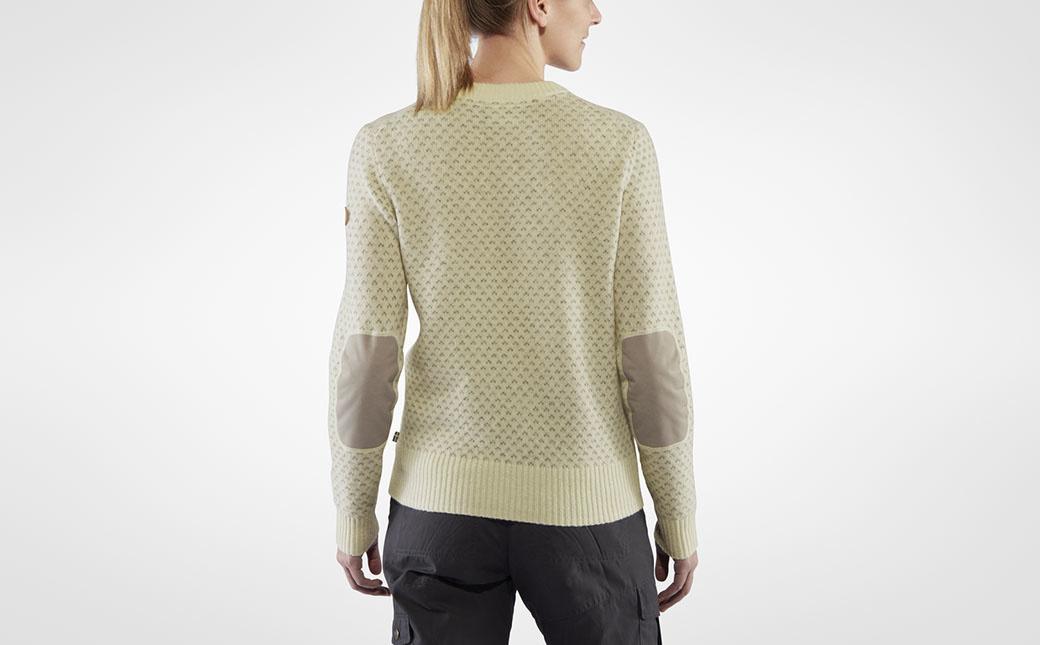 Fjällräven Övik Nordic Sweater W Chalk White-3