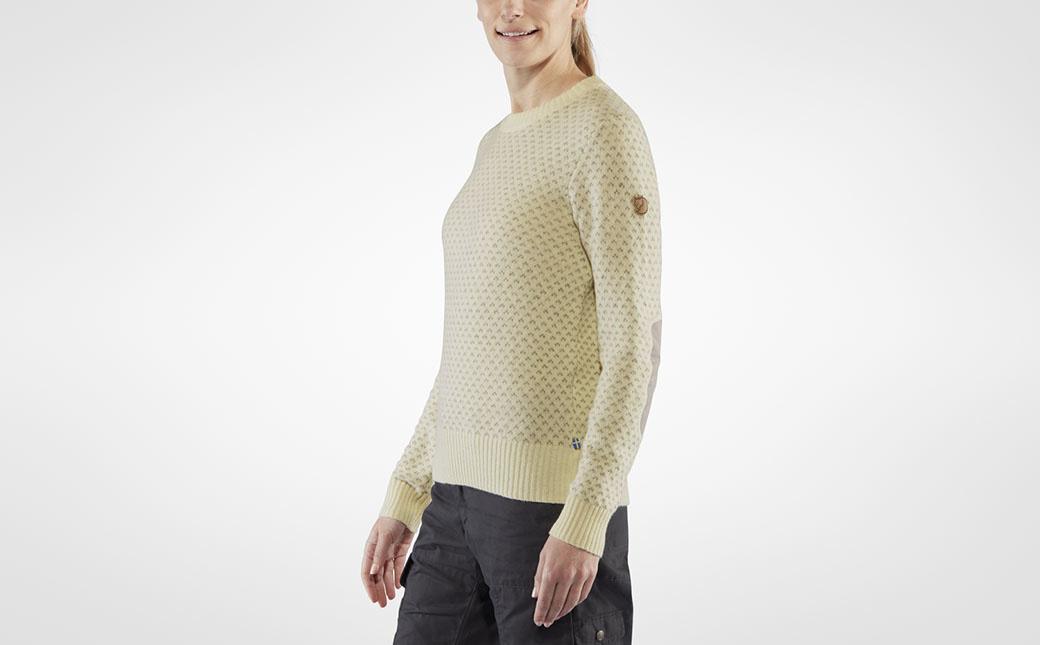 Fjällräven Övik Nordic Sweater W Chalk White-4