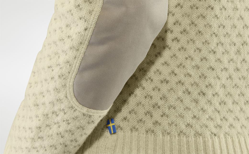 Fjällräven Övik Nordic Sweater W Chalk White-5