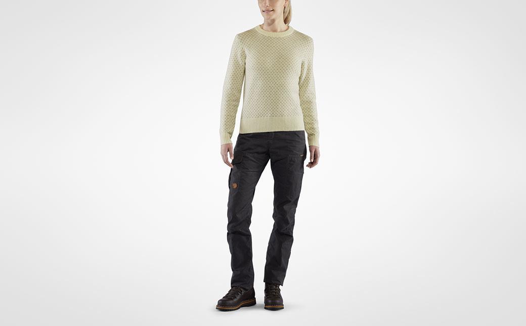 Fjällräven Övik Nordic Sweater W Chalk White-6