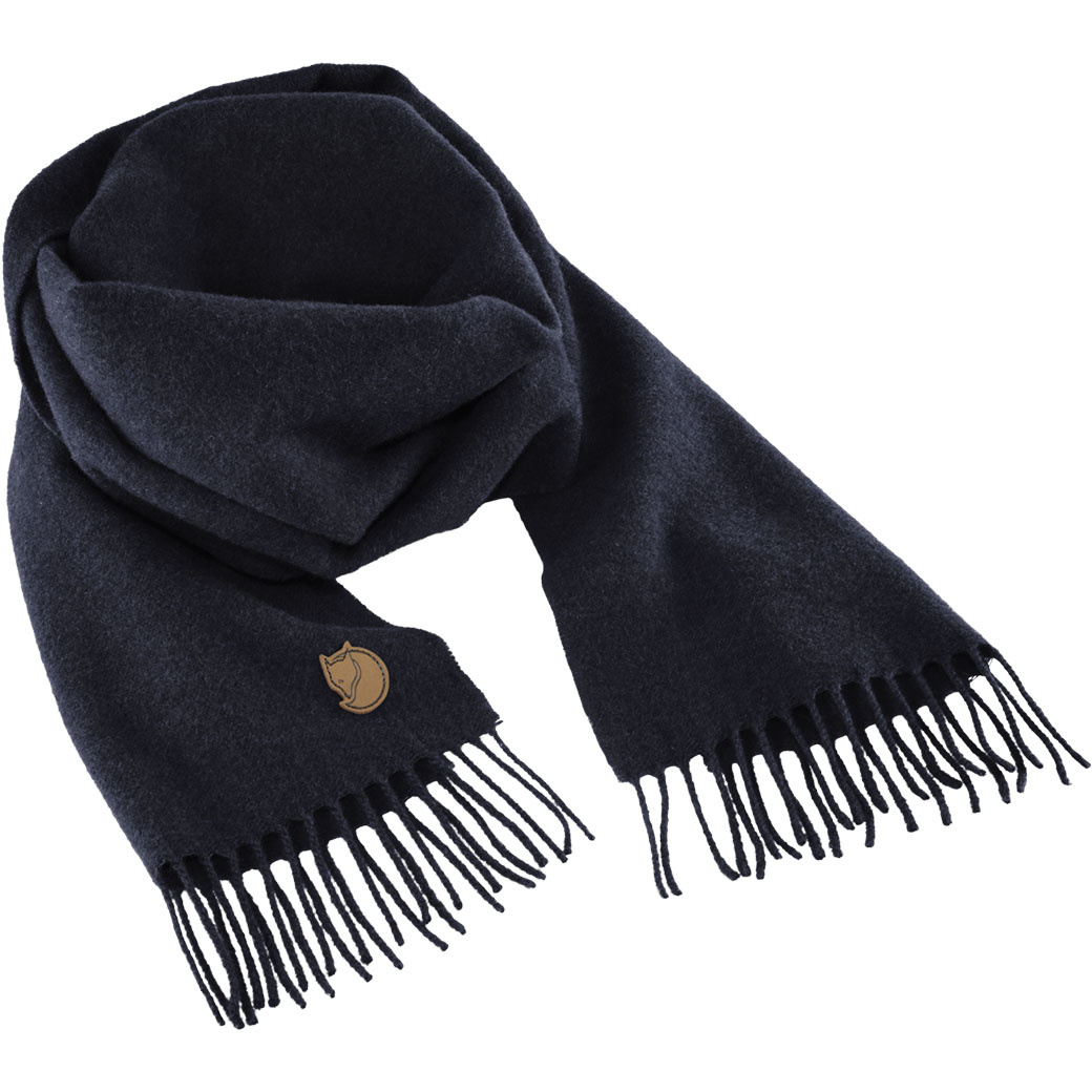 Fjällräven Solid Re-Wool Scarf Dark Navy-1