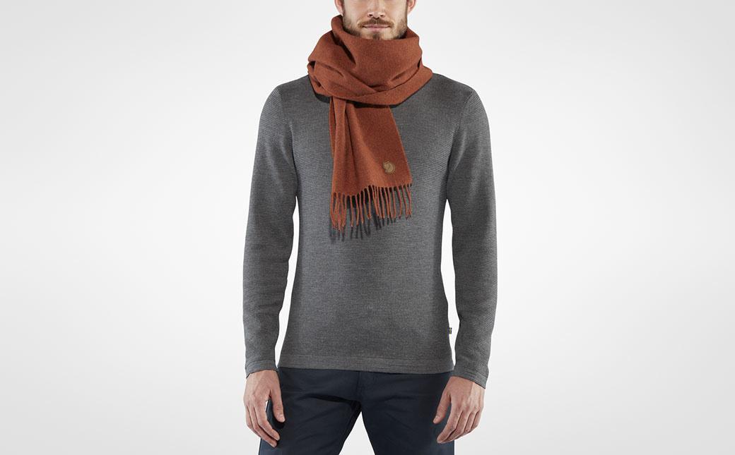 Fjällräven Solid Re-Wool Scarf Autumn Leaf-2