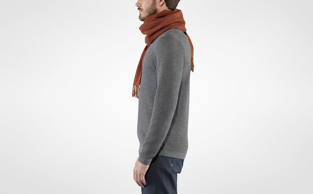 Fjällräven Solid Re-Wool Scarf Autumn Leaf-3