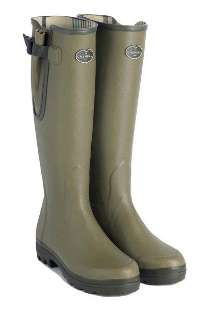 Le Chameau Men's Vierzon Jersey Lined Boot Vert Vierzon