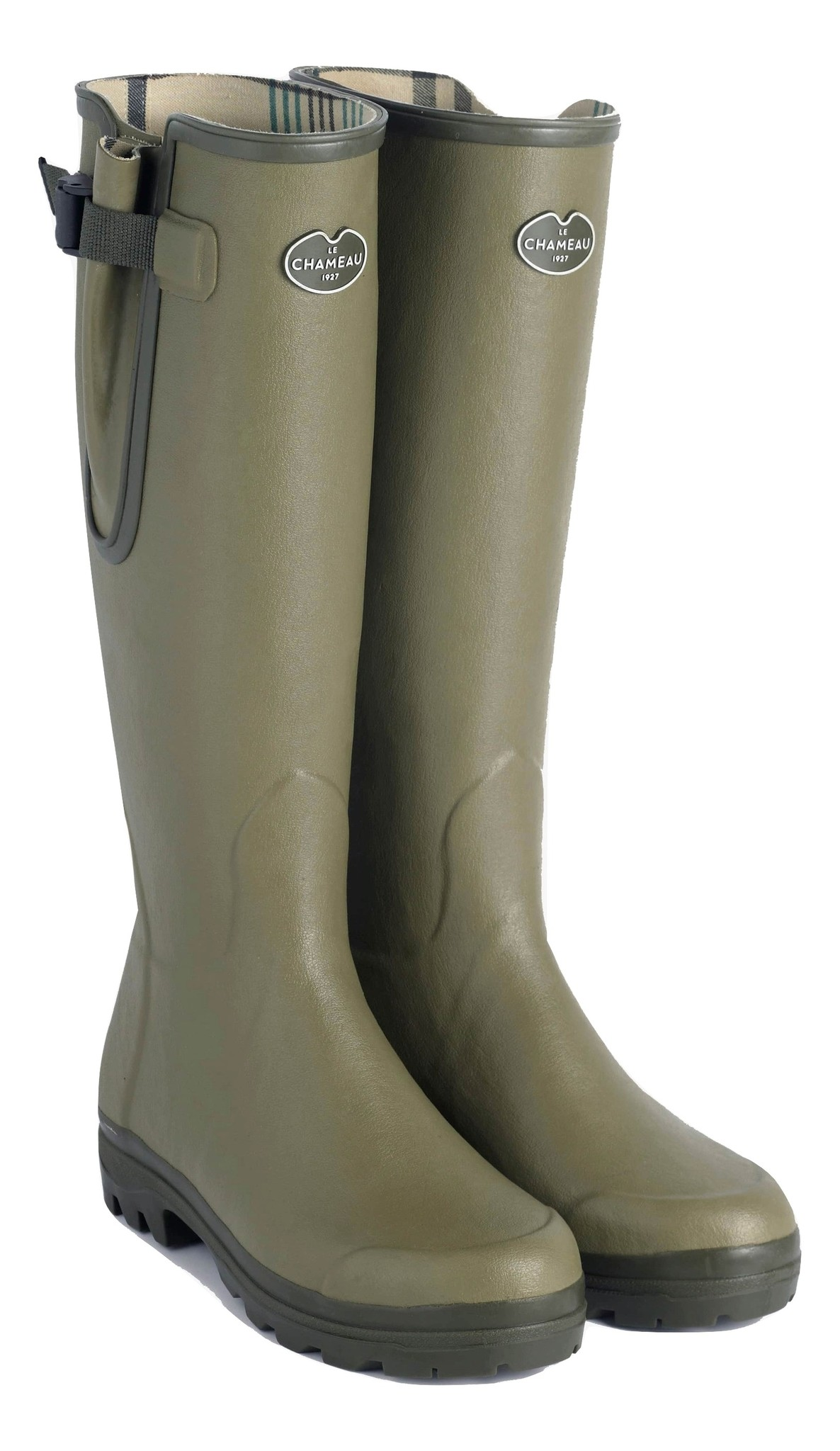 Le Chameau Men's Vierzon Jersey Lined Boot Vert Vierzon-1