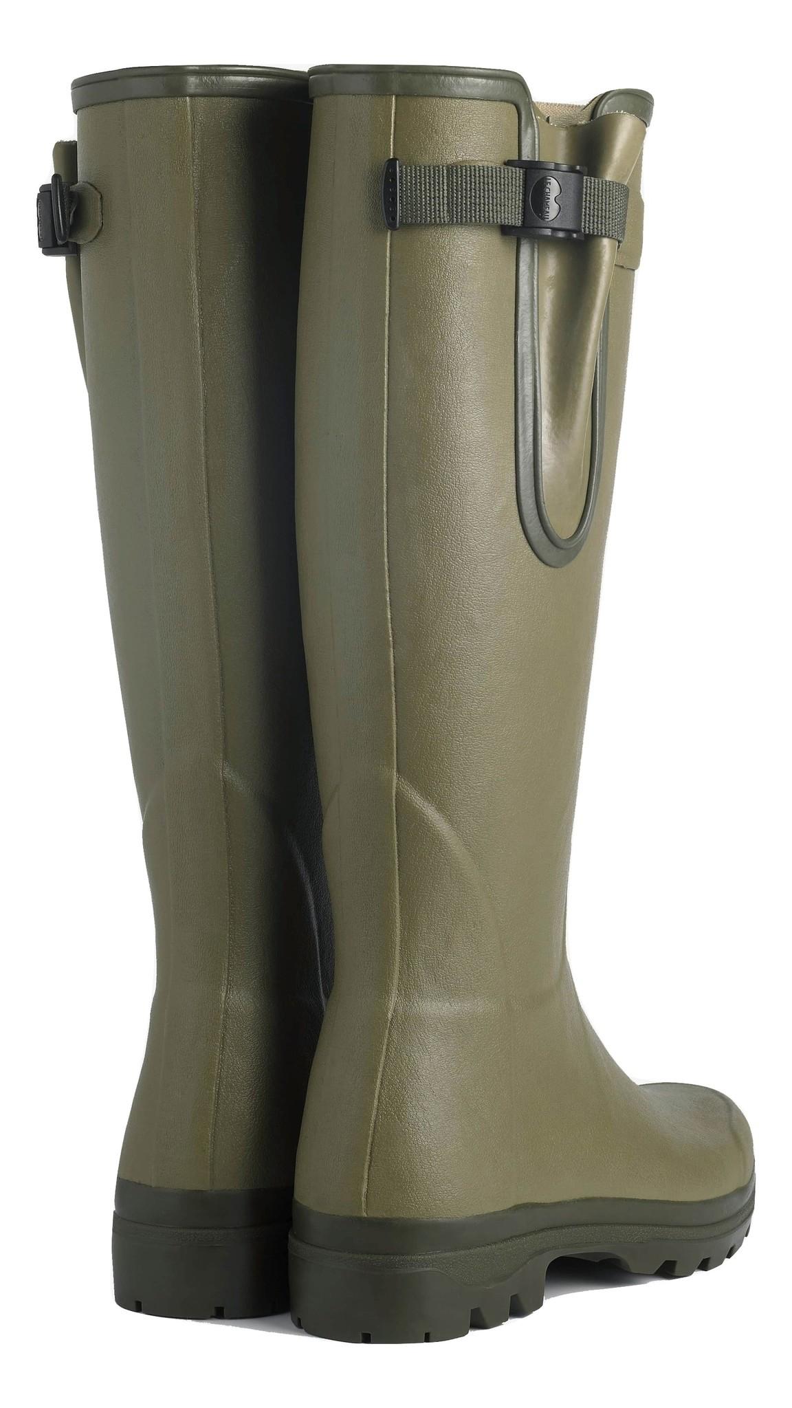 Le Chameau Men's Vierzon Jersey Lined Boot Vert Vierzon-3