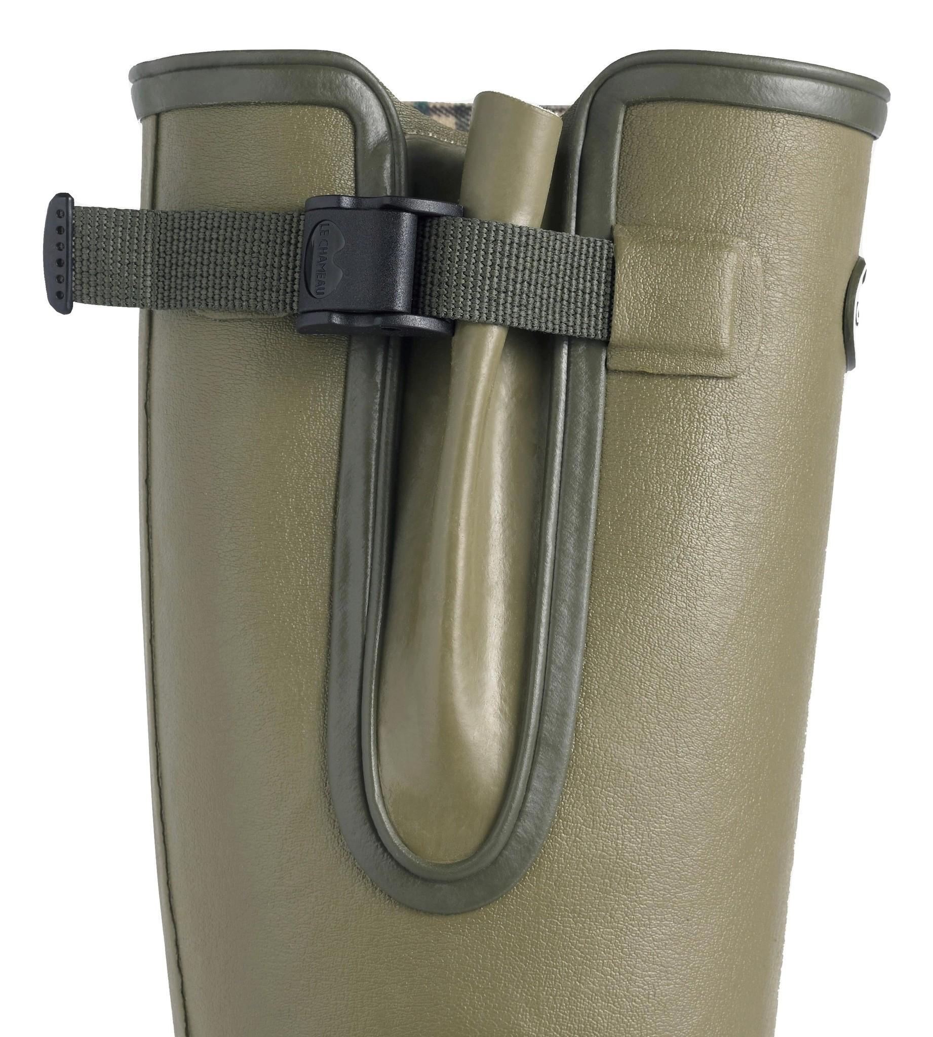Le Chameau Men's Vierzon Jersey Lined Boot Vert Vierzon-4