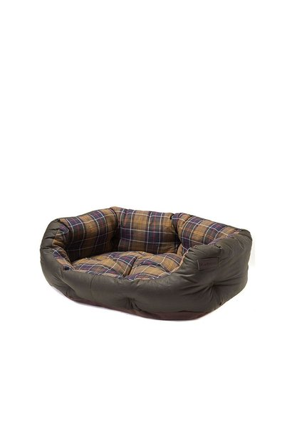 Barbour Wax/Cotton Dog Bed 30IN  Classic/Olive