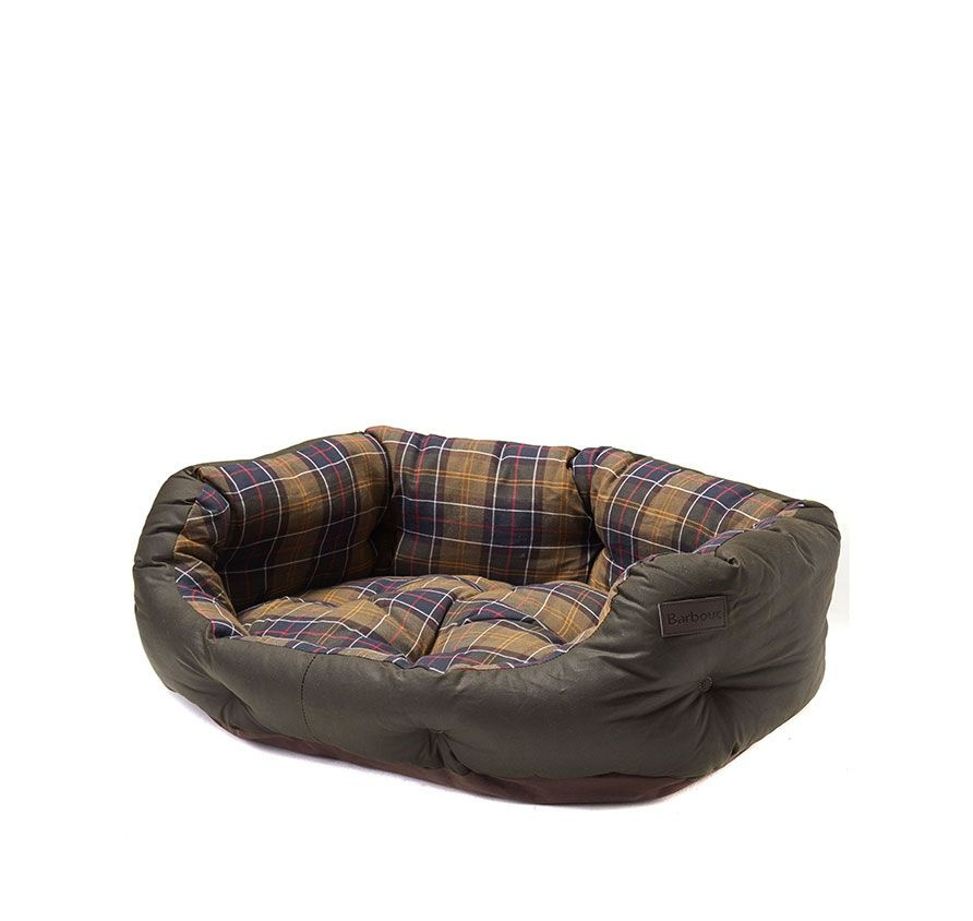 Barbour Wax/Cotton Dog Bed 30IN  Classic/Olive-1