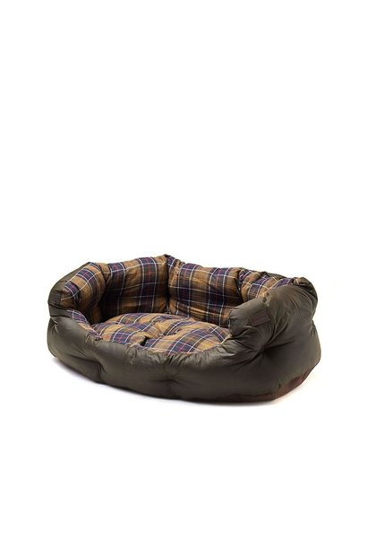 Barbour Wax/Cotton Dog Bed 35IN Classic/Olive
