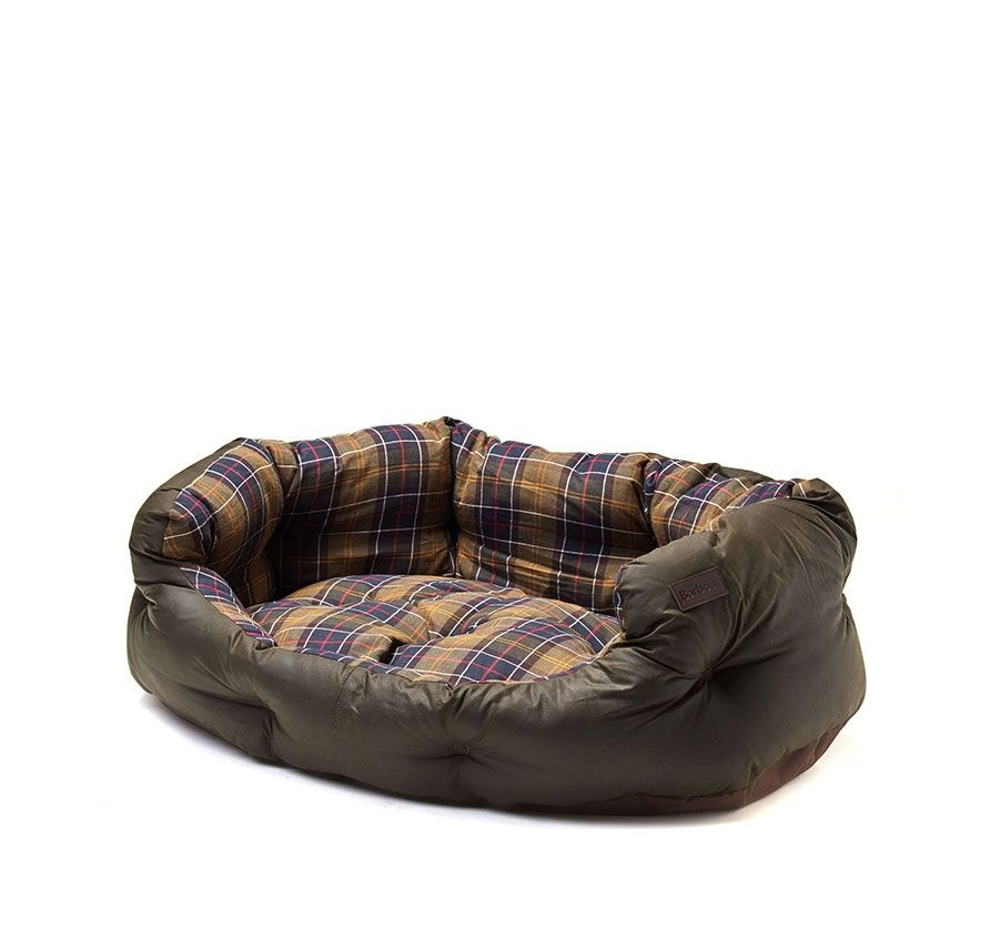 Barbour Wax/Cotton Dog Bed 35IN Classic/Olive-1