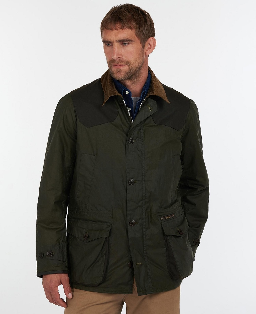 Barbour Oakby Wax Olive-2