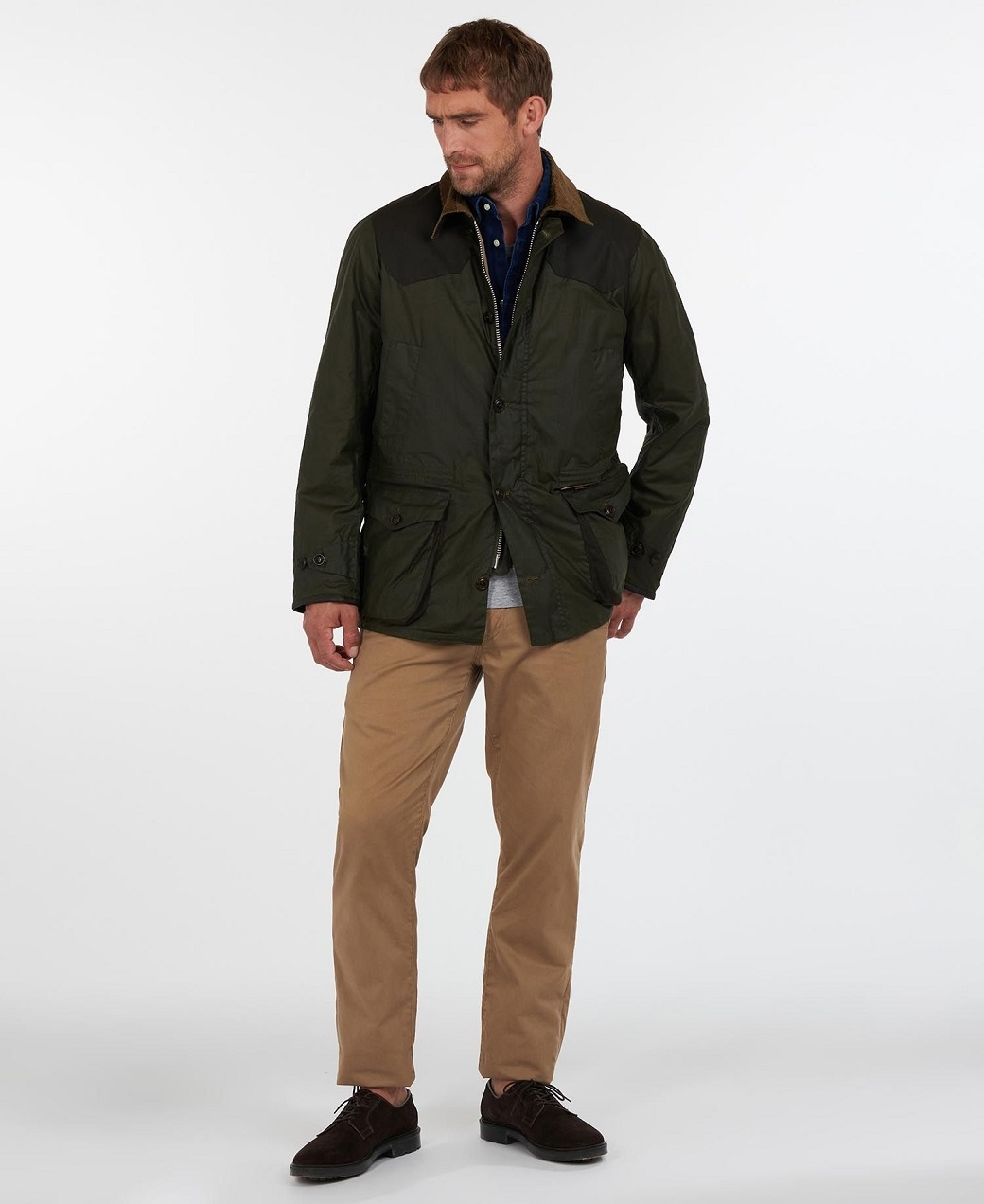 Barbour Oakby Wax Olive-3